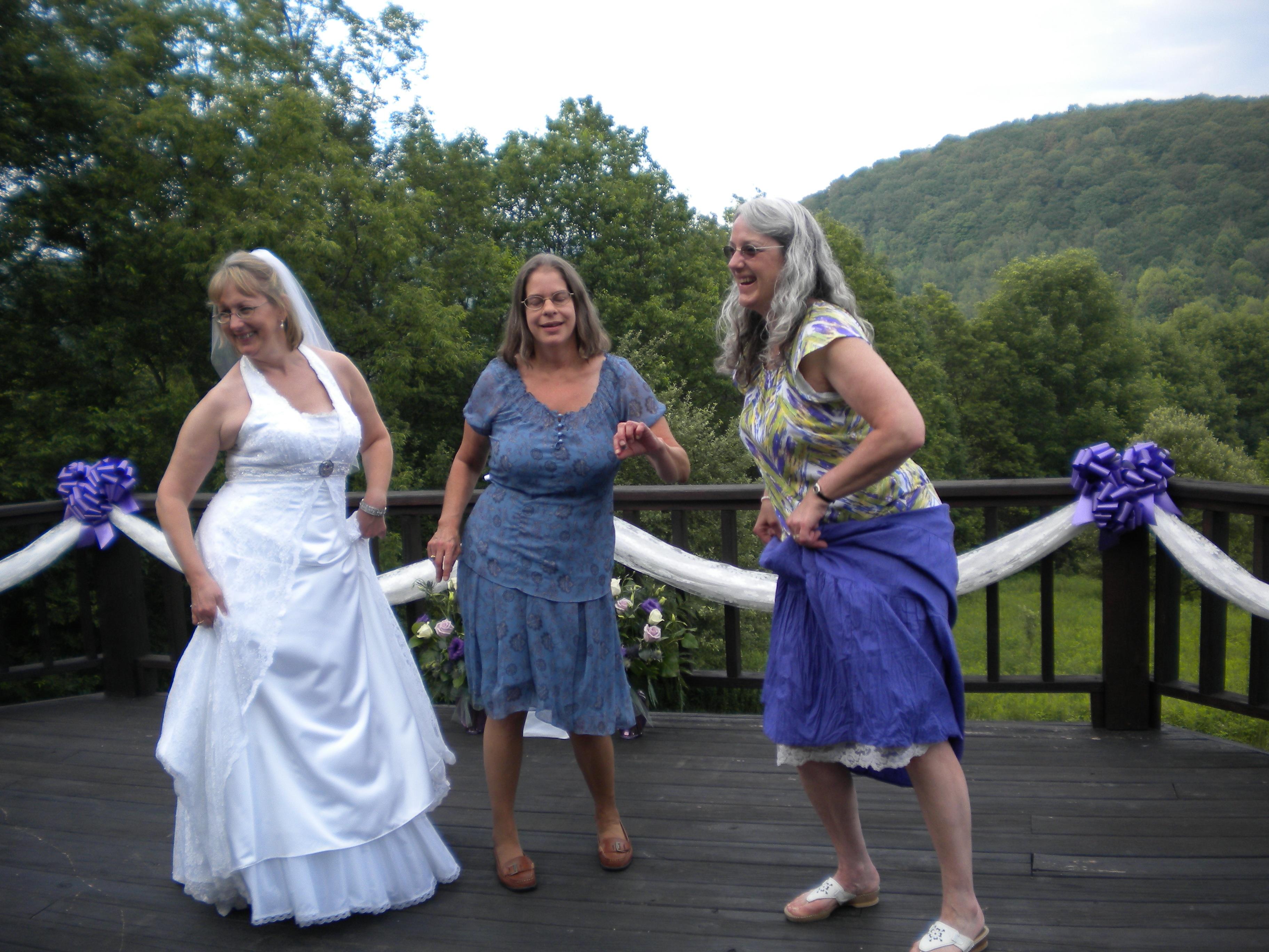 Dancing at my wedding.